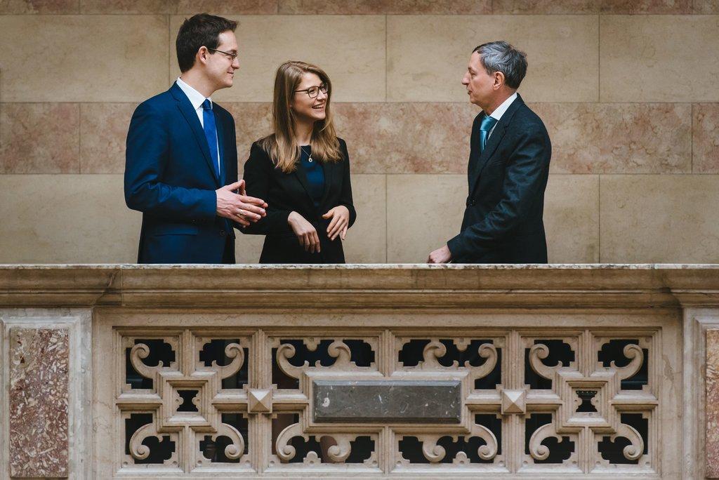 Rechtsanwälte Wolfgang Kiechl, Mario Schaffer und Carina Koplenig in Wien